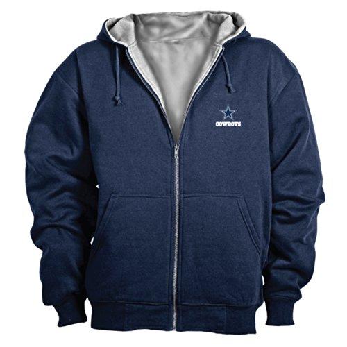 nfl-dallas-cowboys-craftsman-full-zip-thermal-hoodie-navy-grey-x-large