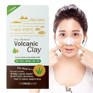 The Face Shop Volcanic Clay Blackhead Aloe Nose Strip x 7ea