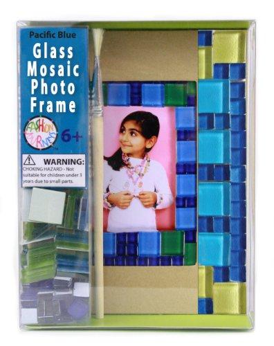 Bead Bazaar Glass Mosaic Frame Kit (Pacific Blue)