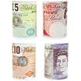 Bank Note Money Box Tin *Large* Open with Tin Opener NOVELTY Great Gift