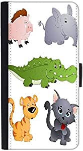 Snoogg Cute Animals Vectors Designer Protective Flip Case Cover For Htc Desir...