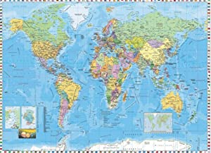 Perceptions World Map Wall Mural