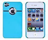 Sky Blue Chrome Case for Apple iPhone 4, 4S (AT&T, Verizon, Sprint)