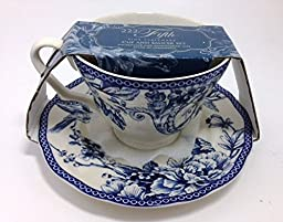222 Fifth Adelaide Blue Fine China Cup and Saucer by 222 Fifth