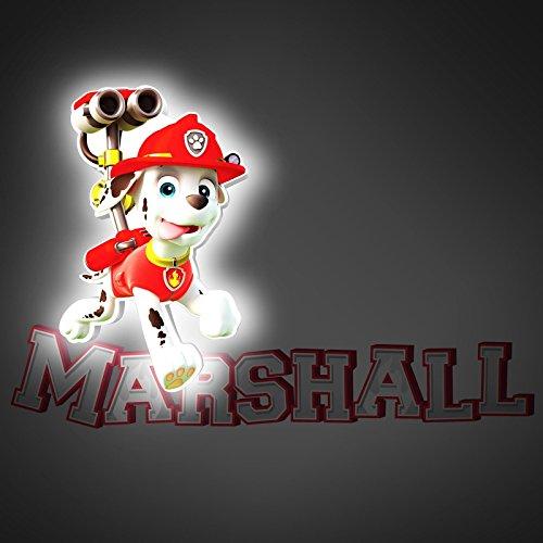 lampada-da-parete-a-led-mini-3d-paw-patrol-marshall