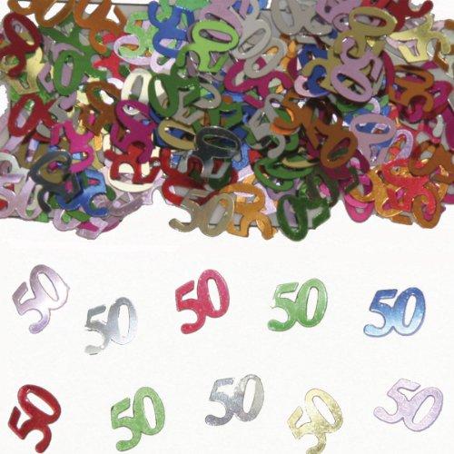 tischkonfetti zahl 50 deko konfetti geburtstag party. Black Bedroom Furniture Sets. Home Design Ideas