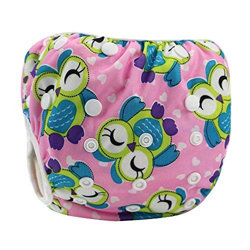 Eizur Neonato Nuoto Pannolino Bambino Infant Lavabile Riutilizzabile Nappy Bambini Diaper pantaloncini Costume da bagno Nuotata breve Breveregolabile mutanda per Spiaggia Estate Vacanza Tipo B