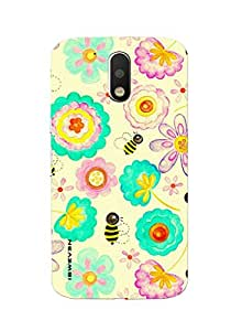 iSweven printed MOTOG4P_3175 Kess inhouse floral bee Design Multicolored Matte finish Back case cover for Motorola MOTO G4 PLUS