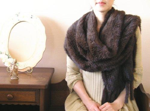 ミンクストール 『艶美 / デミバフ 』 40cm幅  【毛皮、ファー】