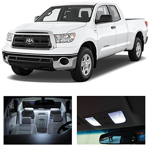 Toyota Tundra 2007-2014 White Led Package Kit- Interior + Tag + Cargo + Reverse (15 Pieces)