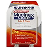 Mucinex Fast-Max Cold & Sinus, Multi-Symptom, Maximum Strength, Caplets, 30 caplets