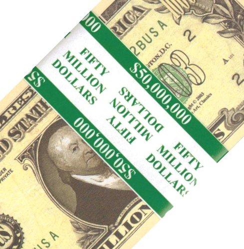 50 count Banded Paul Revere Patriot Million Dollar Bills