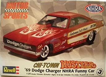 Amazon.com: Revell 1:25 Pat Minick Chi-Town Hustler Charger Funny Car