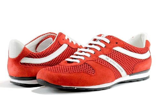 Hugo Boss Men'S Fashion Sneakers Orlenno Bright Red Shoes (10)