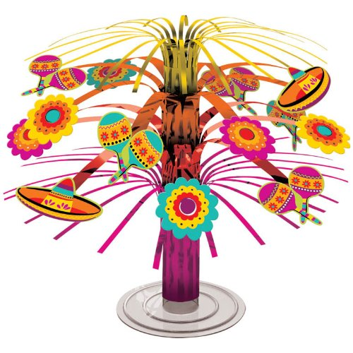 "Amscan BB240055 Fiesta Mini Foil 7.5"" Cascade Centerpiece -Each"