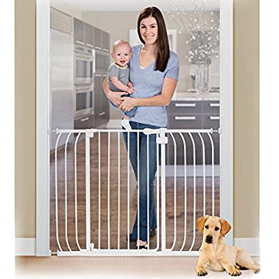 Summer Infant Anywhere Auto Close Metal Baby Gate - White