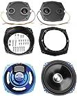 J&M Performance 7.25in. Fairing Speaker Upgrade Kit HCSK-7252GTM