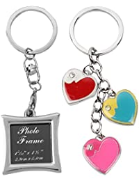 Atul's Gallery Silver And Multicolor Keychain (Pack Of 2) - B01FX8D1JU
