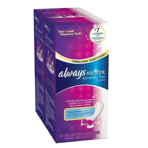 Flexible edges that fit multiple panty styles - Always Radiant Incredibly Thin Liners Unscented