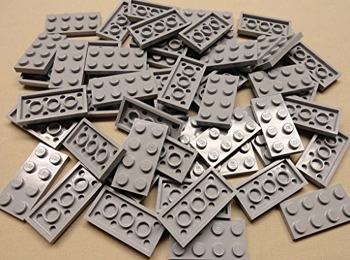 x50 NEW LEEGO Gray Baseplates 2x4 Brick Building Plates LIGHT BLUISH GRAY (Leego Inc compare prices)