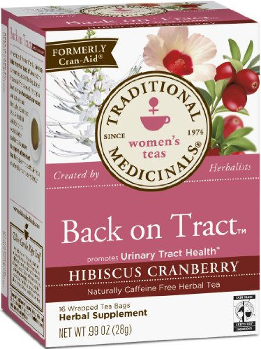 Traditional Medicinals Back On Tract Organic Tea Bag, Hibiscus Cranberry, 16 Count (Pack Of 6)