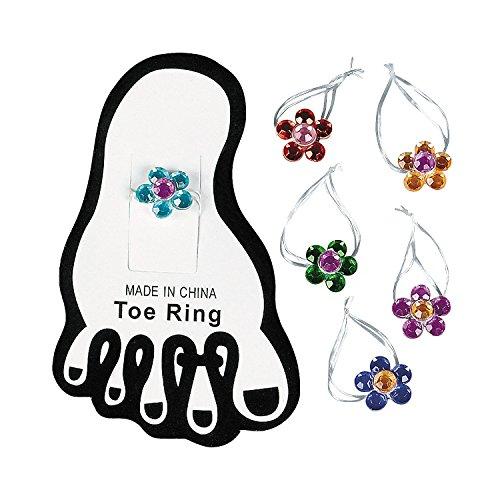 Stretchy Flower Toe Ring (1 Dozen)
