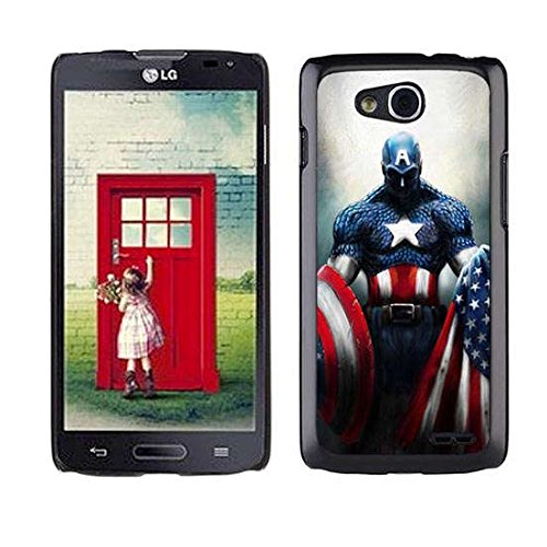 Custom Design Case For LG Optimus L90 Captain America,The Winter Soldier Theme Scratch Proof Cover (Lg L90 Captain America Case compare prices)