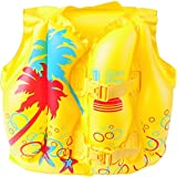 Bestway 32069 baby swim float - baby swim floats (Swim vest, Amarillo, Pattern, Vinilo, 410 x 300 mm, Polybag with insert card)
