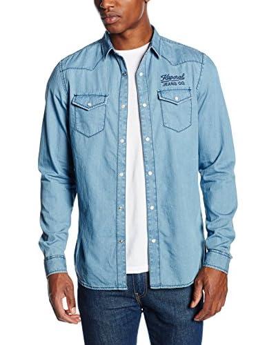 Kaporal Camisa Hombre Bory Azul
