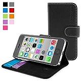 英国Snugg製 iPhone 5C用 PUレザー手帳型ケース ブラック
