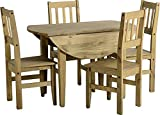 Mercers Furniture Corona Drop Leaf Table and 4 Chairs, Multi-Colour
