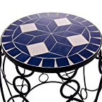 Iron Side Table W Mosaic T