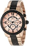 Invicta Men's 1424 Specialty 18k Rose Gold Ion-Plated Stainless Steel Watch with Black Details