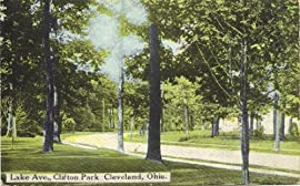 1914 Vintage Postcard - Lake Avenue in Clifton Park - Cleveland Ohio