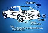 Zone Tech Car Reverse Backup Radar System - Premium Quality 4 Parking Sensors Car Reverse Backup Radar System with LED Display