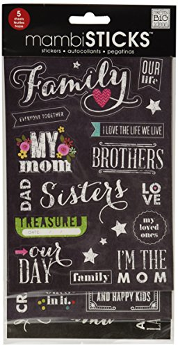 Me & My Big Ideas Glitter Stickers Value Pack, Chalk, Family (Value Pack Stickers compare prices)