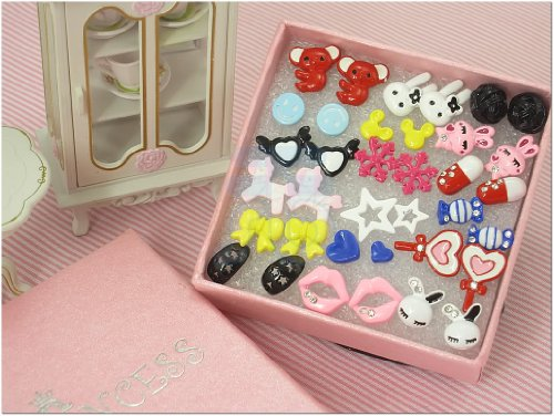 Cute Fashion Stud Earrings for teen girls Kids, Wholesale Lot of 18 Pairs [B]