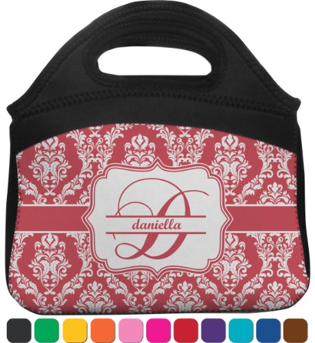 Damask Lunch Tote (Personalized) front-814079
