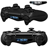Mod Freakz Pair of LED Light Bar Skins COD Hat Military Ghost for PS4 Controllers