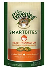 Greenies Feline SMARTBITES HEALTHY SKIN + FUR for Cats 2.1 oz CHICKEN