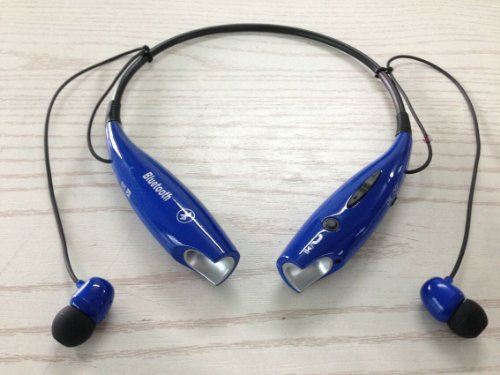 Soundbeats Universal Hv-800 Wireless Music A2Dp Stereo Bluetooth Headset Universal Vibration Neckband Style Headset Earphone Headphone For Cellphones Enabled Bluetooth (Dark Blue, Hbs-800)