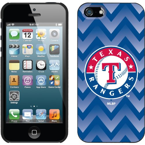 Great Price Texas Rangers - Gradient Chevron design on a Black iPhone 5s / 5 Thinshield Snap-On Case by Coveroo