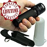 Tactical LED Flashlight: #1 Best Value, High-Lumen, ZOOM, Waterproof, Lifetime Warranty, Industrial Grade, FREE LAMP DIFFUSER & HOLSTER, 100,000 Hour CREE LED Torch, Strobe, 5-Mode with Memory, Compare to Others, Most Versatile Light Available!
