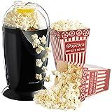 Andrew James - Heißluft Popcorn Maschine in Schwarz - Mit