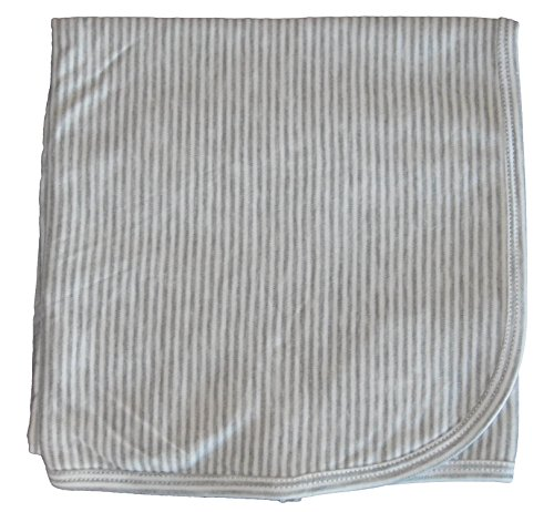 Kissy Kissy Baby Essentials Striped Receiving Blanket-Gray-One Size