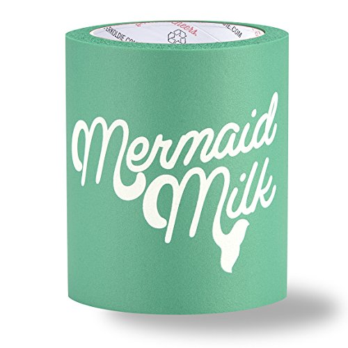SUPERKOLDIE Mermaid Milk Foam Can Cooler (Turquoise, One Size, 1 pc)