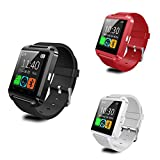 HOMEGO U8 Upgrade Waterproof Bluetooth Wrist Smart Watch - Red