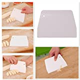 ChainSee Plastic Dough Cutters Cream Cakes Edge Flexible Scraper Multipurpose Kitchen Gadgets Baking Tools (White)
