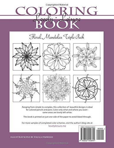 Floral Mandalas | Triple Pack (Volumes 1,2 & 3): Lovely Leisure Coloring Books