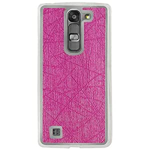 Casotec Retro Style Soft TPU Leather Back Case Cover for LG K10 - Pink